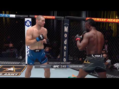 UFC Vegas 33: Hall vs. Strickland – highlights