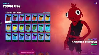 How to Unlock All Toona Fish Color Styles - Fortnite All Toona Fish Bottle Locations