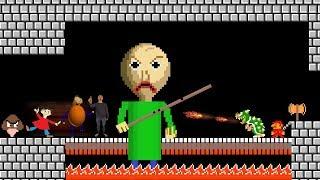 BALDI Helps Goomba to kill Mario