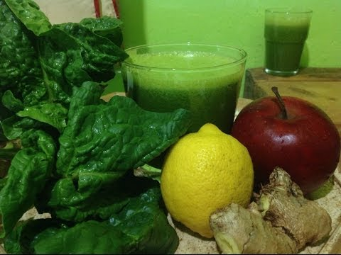 Video Ginger Lemon Apple Spinach Juice ~ Refined Recipe