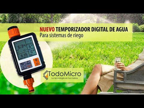 ⏱🌱Temporizador de riego digital. Automatiza el riego de tus plantas