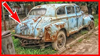 Abandoned limousine ZIS-110, was found in a small Bulgarian city