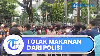 Mahasiswa Tolak Makanan Pemberian Aparat TNI-Polri di Tengah Aksi Demo, Singgung Pencitraan