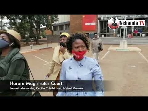 You can't wear facemasks with MDC logo…. police at Magistrates Court tell Mamombe & Co – VIDEO
