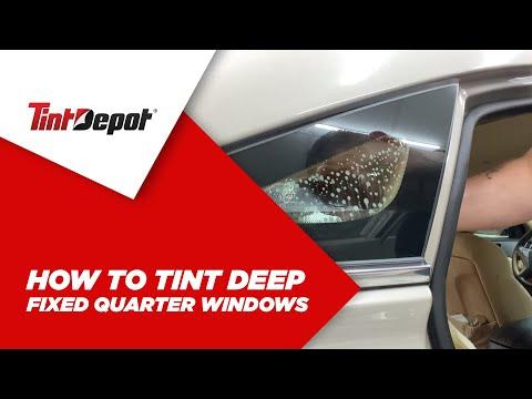 How to Tint Deep Fixed Quarter Windows