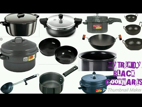 MY TRENDY BLACK COOKWARE COLLECTION 😍😍😍
