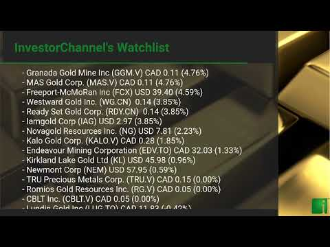 InvestorChannel's Gold Watchlist Update for Monday, Octobe ... Thumbnail