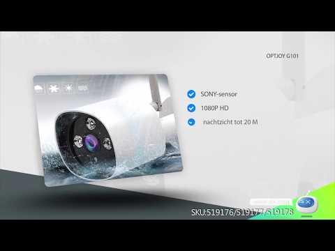 OPTJOY G101 Outdoor IP Camera, 1080P HD IP66 Waterproof Wireless  Security Camera