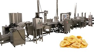 Automatic banana chips plant for producing banana chips/plantain chips youtube video