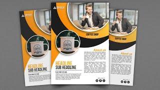 Coffee Shop Brochure Design In Affinity Designer