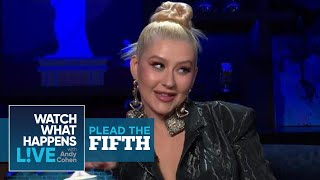 Christina Aguilera Refutes Swinging On Pink | Plead The Fifth | WWHL
