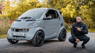 This KAWASAKI ZX10R Engined SMART CAR IS *BONKERS*