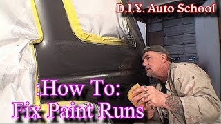 """How To Remove Paint Runs""-Automotive Paint And Body Tech Tips and Tricks"