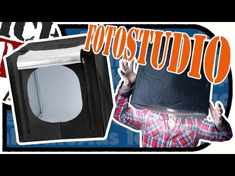 COOLES Fotostudio SET mit LED Beleuchtung für Produktfotografie u.m. FOTOBOX / Lichtbox