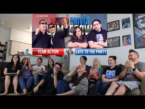 Team Action Vs. Late to the Party REACTION - Movie Trivia Schmoedown