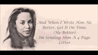 Aaliyah - 4 Page Letter Lyrics HD