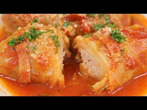 Cabbage Rolls Recipe (Tender Cabbage Stuffed with Juicy Ground Meat Filling)   Cooking with Dog