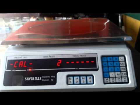 Ajuste peso (calibración) báscula Silvermax ACS-30