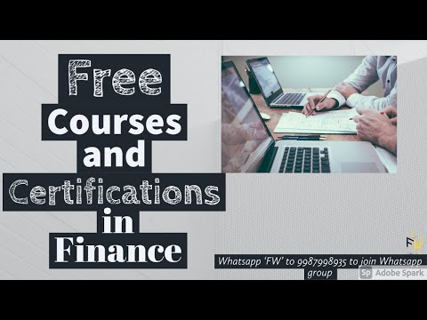 How to get free Certifications and Courses in Finance | CFA | CFI