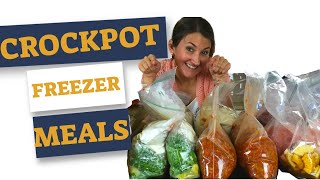 CROCKPOT FREEZER MEALS - Cook With ME - FREE Freezer Meal Plan With 10 AMAZING Dinners!
