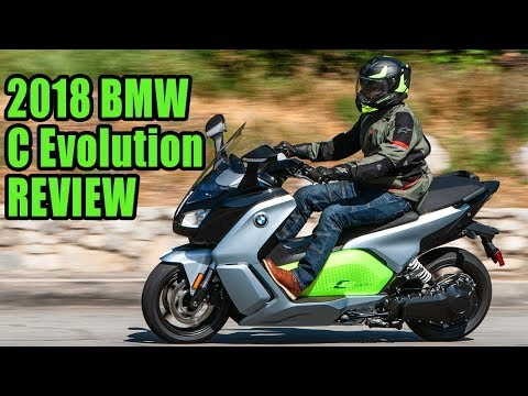 2018 BMW C Evolution Scooter Review