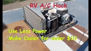 Improve RV Air Conditioner cooling & reduce power use for about $10 (Option list Below Video)