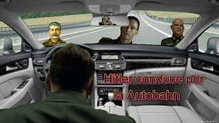 Hitler conduce por la Autobahn