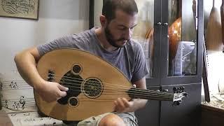 Thomas Konstantinou Plays An 1896 Haig Usta Oud At Tasos Xylofonia Workshop.