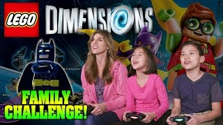 THE LEGO DIMENSIONS FAMILY CHALLENGE!!! LEGO Batman Movie Story Pack Action