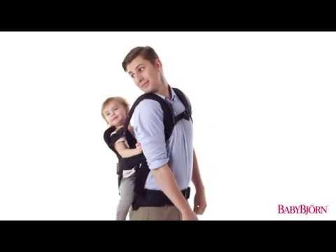 Babybjorn рюкзак для переноски ребенка ONE Soft Cotton Mix черный с серым