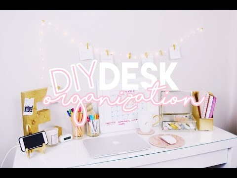 10 DIY Desk Organization Ideas ♡