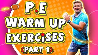 Here's the most EFFECTIVE warm up routine I use for my P.E lessons