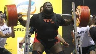 Рэй Вильямс - присед 410 кг (167 кг) Мировой рекорд