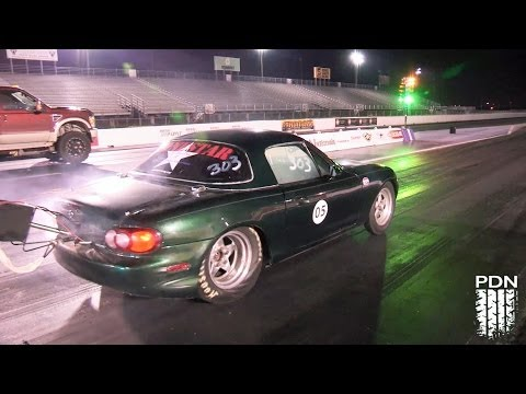 Battery Powered Miata Runs 9s