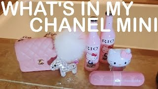 WHAT'S IN MY CHANEL MINI FLAP BAG ♥