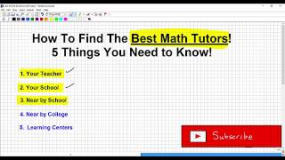 How to Find the Best Math Tutors