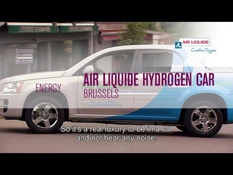 Air Liquide Hydrogen filling station, Brussels, June 2013 .
