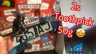 TOOTHPICK 2s / 50g / Super light Custom FPV DRONE build / ADMovie