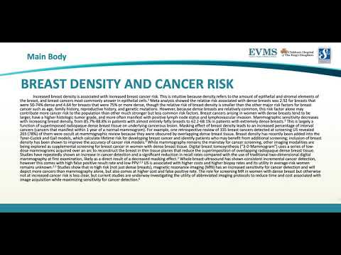Thumbnail image of video presentation for Breast Density and its Impact on Screening Mammograms