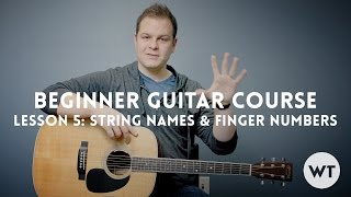 String Names and Finger Numbers - Lesson 5: Beginner Guitar Course