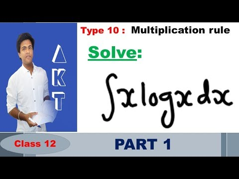 Integration Type 10 : Multiplication rule : Part 1