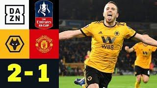 Diogo Jota Trifft - United Fliegt: Wolverhampton Wanderers - Manchester United 2:1 | FA Cup | DAZN