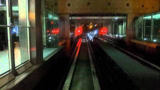 preview picture of video 'Travel with CDGVAL automatic train at night in charles de gaulle airport (time lapse)'