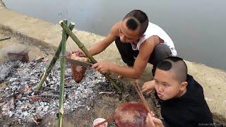 Tim Bò Nướng Kiểu Mông Cổ - Nấu Ăn Bên Bờ Suối Cười Há Mồm Với Mao Đệ