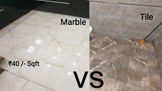 मार्बल लगाये या टाइल || Tile or Marble which flooring is Best || Granite