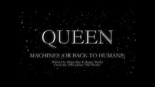 Queen - Machines (Or Back To Humans) (Official Lyric Video)
