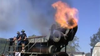 Giant Diesel Generator Startup Antique Engine Duvant 9VOS