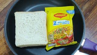 मिनटों मे बनाए Maggi और Bread का बिल्कुल नया नाश्ता L सिर्फ दो ही चीजों से Easy Tasty Tea Time Snack