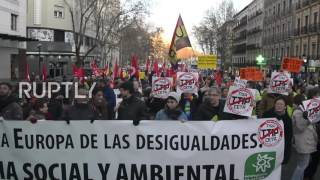 Spain: Hundreds rally against CETA and TTIP trade deals in Madrid
