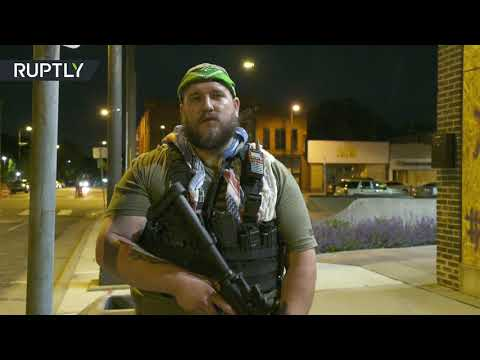Armed civilians guard Minneapolis streets